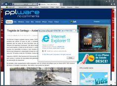 No mesmo dia em que apresentou ao mundo a mais recente versão do Windows, a Microsoft lançou também uma nova versão do seu browser. O IE 11 foi lançado ainda em versão Developer Preview e estava limitado ao Windows 8.1, mas as promessas indicavam que seria alargado a versões anteriores.A Microsoft c
