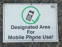 Designated Area, Walks, Phone, Telephone, Mobile Phones