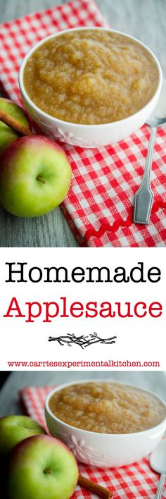 Make your own Homemade Applesauce with fresh picked apples, sugar and spices…