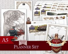 Hogwarts Express A5 Printable Planner Set by Tales of Wonderland, inspired by Harry Potter.