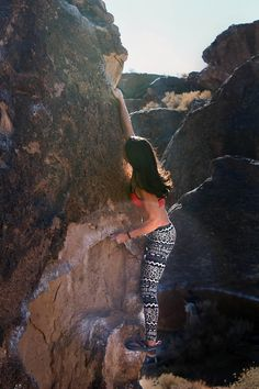 Bishop summer #bouldering #climbing in the sun rays. [Natalie Duran]