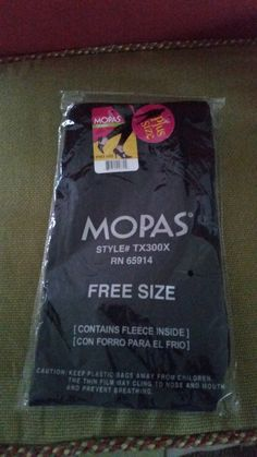 Mopas black fleece-lined leggings.  NWT.  Plus-size free size.  $5