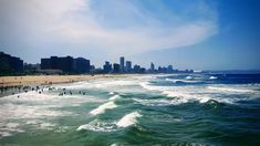 Durban is in the KwaZulu-Natal Province of South Africa looking out upon the Indian Ocean. This City is known to be a tropical paradise for holidays. A diverse community gives this city a cultural pulse that visitors have grown to desire. Today Durban is home to Africa's best managed and busiest port. Durban is a very popular destination due to the hot and humid summers and pleasant warm winters. Book your stay today. SleepSolutions-sa.com your ONE STOP travel solution Provinces Of South Africa, Hot And Humid, Kwazulu Natal, Tropical Paradise, Waves, Ocean, Holidays, City, Summer