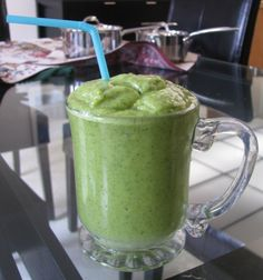 spinach, kale,mango, banana, avocado, coconut