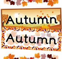 Double mounted effect, Autumn themed classrosom banner. 2 X A4 sheets. Primary Resources, Teaching Resources, Teaching Ideas, Classroom Banner, Autumn Display, Key Stage 1, Preschool Printables, Eyfs, Autumn Theme