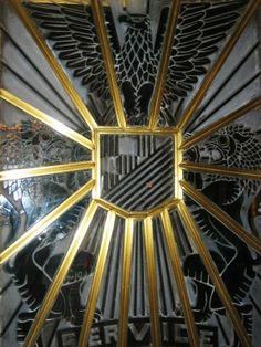 "Los Angeles:  ""Here is a detail of the glass doors to the Oviatt Building (617 S. Olive St.), designed by architects Walker and Eisen in 1927-1928"""