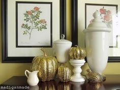 Elegant Gold and White Thanksgiving Décor Ideas | Family Holiday