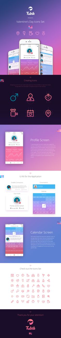 Hi guys! How are you doing? I hope you are all feeling creative and inspired, cause that's what I was feeling like when I was creating this shot. It's a dating app, and I wanted to show you its main screens - a user profile, a calendar with organizer func…