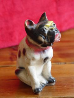 Vintage Chalkware Boston Terrier DOG Figurine  by calicoartist, $18.00