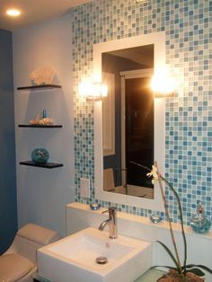 Bathroom Glass Tile Backsplash bathroom glass tile designs - hypnofitmaui