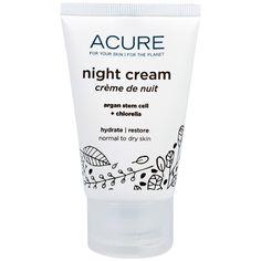 Acure Organics, Night Cream, Argan Stem Cell + Chlorella, 1.75 fl oz (50 ml)