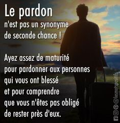 Forgiveness is not a synonym for second chance! Quote Forgiveness is . Positive Attitude, Positive Life, Quotes Francais, Daily Quotes, Best Quotes, Seconde Chance, Strong Words, French Quotes, Funny Relatable Memes
