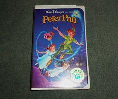 Rare Vintage PETER PAN (VHS 1990) - Walt Disney's Black Diamond Classics, GUC
