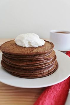 Hot Chocolate Pancakes