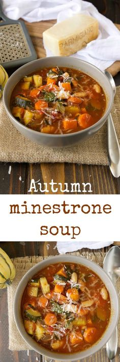 Autumn Minestrone Soup recipe