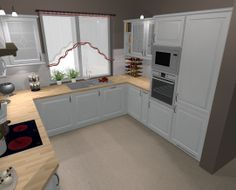 kuchnia biała projekt