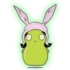 Louise Kuchi Kopi by @cjmooreart This, along with his other pieces will be available for purchase in the very near future! Give him a follow for more great Bobs Burger artwork! #bobsburgers #lettuceketchuppod #bob #linda #tina #gene #louise #belcher...
