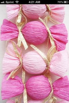 Gifts ....ladoos wrapped in crepe paper for diwali