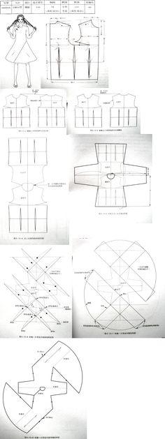 Patroontekening - Drawing Pattern ~Jurk-Tuniek *Dress~