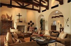 Decor To Adore: Day 11 ~ Spanish Colonial Interiors  lots of interesting things to covet in this room