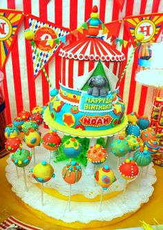 Amazing Circus Cake and Cake Pop Display (by Maria A., Anaheim, CA)