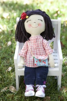 no pattern listed, but adorable doll!