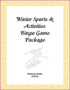 FREE - Winter activities bingo game for French. Includes 2 leveled versions & word wall cards  by Madame Aiello