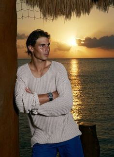 Rafael Nadal relaxing at Cozumel, Mexico earlier this year Beautiful Wife, Gorgeous Men, Rafael Nadal Fans, Equipe Real Madrid, Tommy Hilfiger Watches, Nadal Tennis, Rafa Nadal, Portrait Photography Men, Tennis Stars