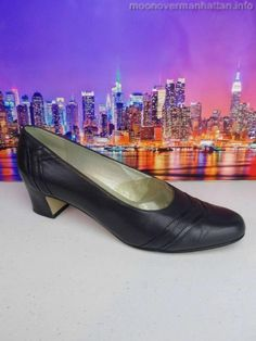 Womens shoes ETIENNE AIGNER Twiggy black soft kidskin SPAIN Dress Pumps sz 8.5 M #EtienneAigner #PumpsClassics