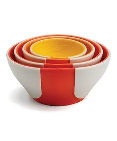 Orange SleekStor Pinch & Pour Prep Bowl Set by Chef'n #zulily #zulilyfinds