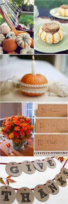 fall wedding... love the candle in the pumpkin!