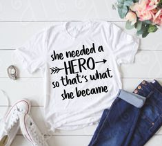 SVG, Hero Svg, Gift for Her, Inspirational Svg, Sayings svgs, Saying svg, Quote svg, Cricut File, She needed a Hero, Hero Svgs, Empower svg by AdrianMarieDesigns on Etsy