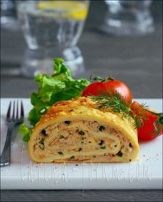 Omelette Tuna Roll... A lot of ingredients but could be simplified and would still be good