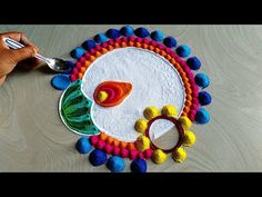 Diwali Dussehra 2019 rangoli/festivals rangoli/satisfying - YouTube