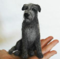 Needle Felted Irish Wolfhound by amber-rose-creations.deviantart.com on @deviantART