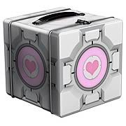Portal 2 Companion Cube Tin Lunch Box - http://lopso.com/interests/lunch-boxes/portal-2-companion-cube-tin-lunch-box/ -   Every Portal gamer should have a Portal lunch box. Take home this fine Portal 2 Companion Cube Tin Lunch Box! Its based on the Portal video game series. Carry Aperture Science with you! The perfect lunch cube! Every Portal gamer should have at least one Portal lunch box. Thats...