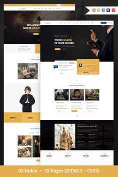 Holy Cross - Charity & Church Bootstrap HTML Website Template Big Screenshot