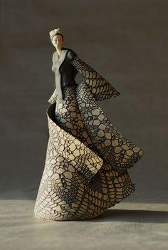"""""""Madames"""" By: Jeanne-Sarah Bellaiche Sculptures Céramiques, Art Sculpture, Pottery Sculpture, Ceramic Clay, Ceramic Pottery, Pottery Art, Ceramic Decor, Ceramic Figures, Clay Figures"""