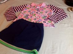 PATSY AIKEN GIRLS SO CUTE FASHION SKORT SET SHIRT AND SKORT SIZE 8 NAVYPINK | eBay