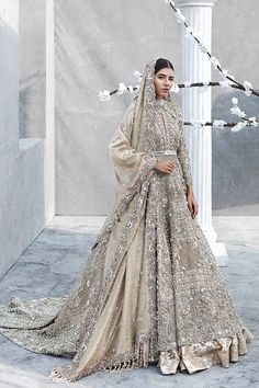 33 Pakistani Bridal Lehenga Designs to Try in Wedding - LooksGud. Asian Bridal Dresses, Asian Wedding Dress, Pakistani Bridal Dresses, Pakistani Wedding Dresses, Indian Wedding Outfits, Bridal Outfits, Bridal Lehenga, Indian Outfits, Bridal Anarkali Suits