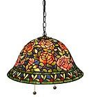 For Sale - NEW Tiffany-style Southern Belle Rose Hanging Lamp