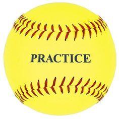 Practice Softball, Yellow, 12-Inch (One Dozen) by SSG. $34.99. SSG / BSN 5PSBY12 12'' Yellow Practice Softball (DZN)