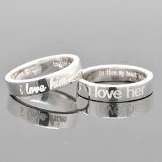 demi-jonc bague de mariage bague de fiançailles par JubileJewel