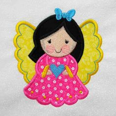 ANGEL Applique and Embroidered Quilt Block by Amy by amyglitterbug, $6.99