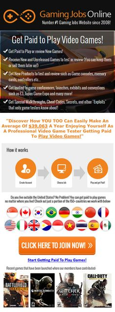 Want To Get Paid for Playing Video Games? Then Hurry Get This Offer Now!