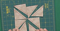 Now this is efficient quilting! Using the method shown below by Jean and Colleen of Fons & Porter, you can make 8 triangle squares at once!