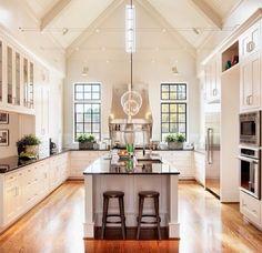 Love this kitchen design.