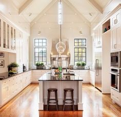 Love this kitchen design.