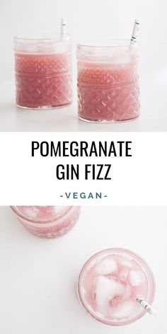 Pomegranate Gin Fizz Recipe | Elephantastic Vegan
