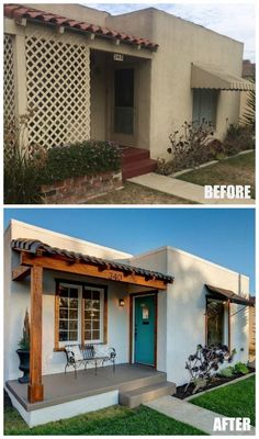 Before and After: A Sweet Spanish Bungalow by the Beach – Home Renovation Home Exterior Makeover, Exterior Remodel, Spanish Style Homes, Spanish House, Spanish Home Decor, Spanish Revival, Home Renovation, Home Remodeling, House Makeovers